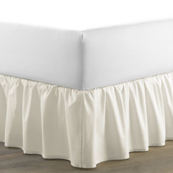 Brielle Stream Solid Color Bed Skirt   Overstock.com Shopping - The Best Deals on Bedskirts