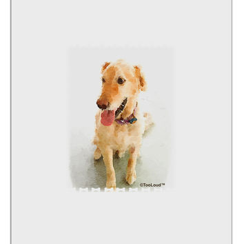 Golden Retriever Watercolor Aluminum Dry Erase Board