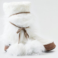 Mukluks Delanie Slipper , White