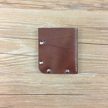 Leather pocket wallet, mens thin wallet, italian leather, mini wallet, womens purse, best friend gifts, leather brown purse, custom wallet