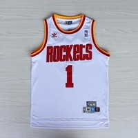 White Tracy McGrady #1 Houston Rockets Adidas Throwback Jersey