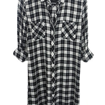 Nadine - White/Black Mini Check