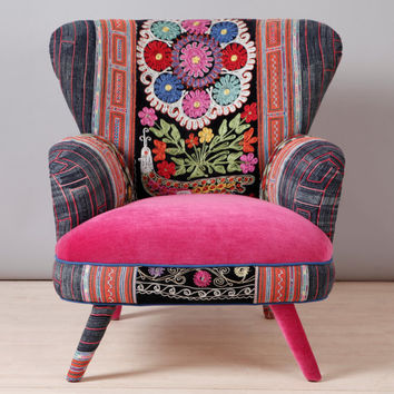 Suzani Armchair   Pink Fever