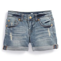 Toddler Girl's 7 For All Mankind Cuff Denim Shorts