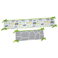 Carter's Animal Collection Crib Bumper (Gray)