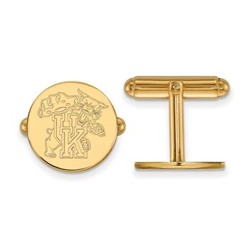 NCAA 14k Gold Plated Silver University of Kentucky Cuff Links