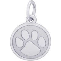 Rembrandt Tiger Paw Charm, Sterling Silver