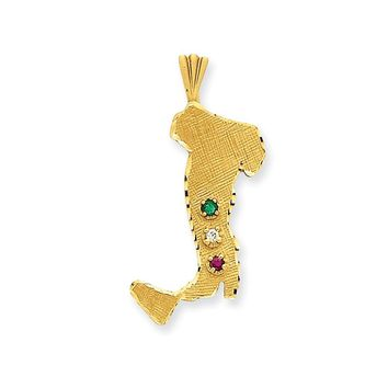 14k Yellow Gold Italy Charm