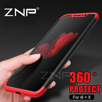ZNP Luxury 360 Degree Protective Cases For iphone 6 6s plus Case Full Cover Phone Cases For iphone 6 6s plus 6Plus phone shell