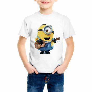 Boy new style summer child Despicable Me T-shirts Minions Children's T-shirt Shirts Cartoon Kids Tops print girl t shirt C18-32