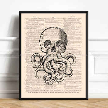 Kraken, Coastal Decor Ideas, College Dorm, Tentacles Wall Decor, Christmas Gift, Bathroom Funny Decor, College Student, Teen Room Decor 476