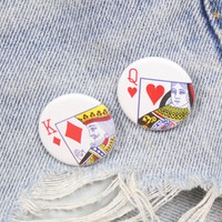King Of Diamonds 1.25 Inch Pin Back Button Badge