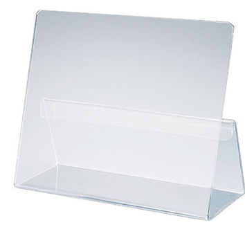 Classic Cookbook Holder - Simple Elegant Clear Acrylic - Made in the USA