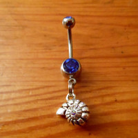 Nautilus shell belly button ring by ChelseaJewels on Etsy