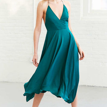 Kimchi Blue Vida Satin Handkerchief Midi Dress - Urban Outfitters