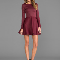 Boulee Avery Dress in Burgundy