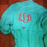 Monogrammed Columbia PFG Fishing Shirt - Men's Bahama II Long Sleeve
