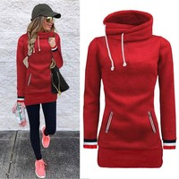 Women's Velvet Loose Fit Athleisure Pullover Hoodie