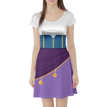 Esmeralda Hunchback of Notre Dame Inspired Short Sleeve Skater Dress