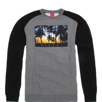 Visual by Van Styles Pacific Raglan Crew Fleece - Mens Hoodie - Black