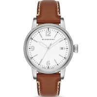 Burberry The Utilitarian Tan Leather Strap Watch, 38mm | Bloomingdale's