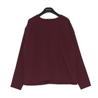 Back Zip Seam Point Blouse
