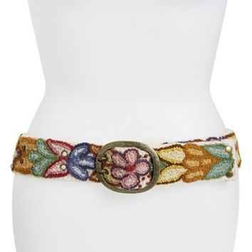 Women's Pistil Designs 'Andina' Hand Embroidered Wool Belt,