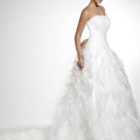Strapless, Slim Fit, Organza Wedding Dresses model 1030