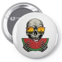 watermelon skull Pin-back button
