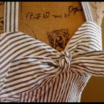 Vintage dress/ Bandeau top halter by PussycatAlice on Etsy