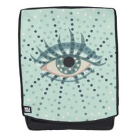 Beautiful Abstract Dotted Blue Eye Backpack