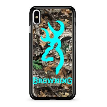 Mint Deer Camo Browning iPhone X Case