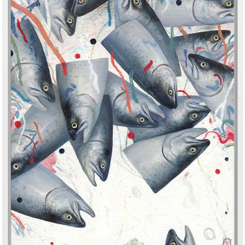 Would You Like Fish Framed Stretched Canvas