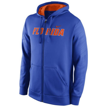 Florida Gators Nike Warp KO Full Zip Performance Hoodie - Royal Blue