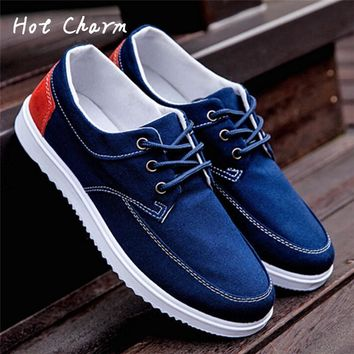 Hot 2016 New Fashion New Brand Luxury Shoes For Mens High Quality Men Casual Shoes Canvas Lazy Lace-up Flat Gay Male Shoe