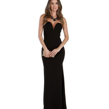 Sophia-black Formal Dress