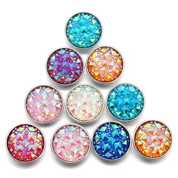 10pcs/lot Snap Button Jewelry Mixed Style Ginger Resin 18mm Snap Buttons fit Snap Bracelet Bangles