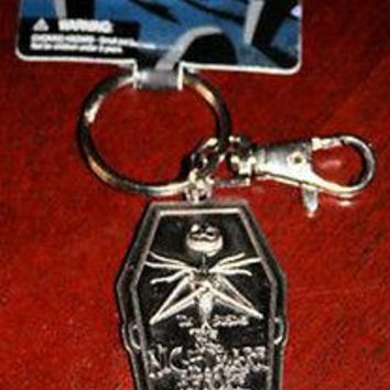 Licensed cool Disney The NIGHTMARE BEFORE CHRISTMAS Jack Skellington  KEYCHAIN METAL COFFIN