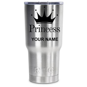 RTIC Princess Crown Silhouette Personalized 20 oz Tumbler