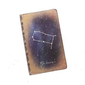 Gemini Journal, Zodiac Constellation Journal, Horoscope Notebook, Astronomy, Astrology, Cosmos, Universe, Stars, Gemini Gift