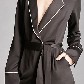 Satin Surplice Romper