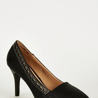 Black Pointed Cut Out Heel