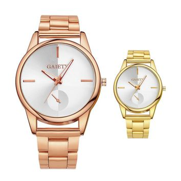 2017 luxury Woman Dress Watch Ladies Gold Stainless Steel relogio feminino Clock female relojes mujer #43