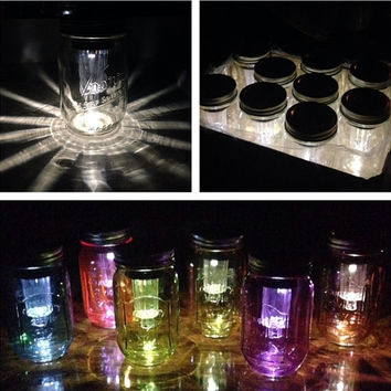 Spring SOLAR powered MASON JAR lights