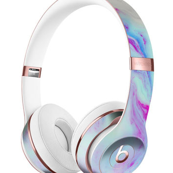 Marbleized Soft Blue V32 Full-Body Skin Kit for the Beats by Dre Solo 3 Wireless Headphones