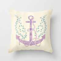 Tribal Nautica II Throw Pillow by Pom Graphic Design