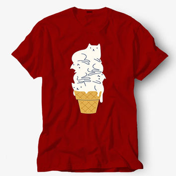 Meowlting ice cream shirt, Hot product on USA, Funny Shirt, Colour Black White Gray Blue Red