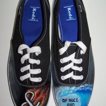 Of Mice & Men The Flood Custom Painted Vans Shoes Made to Order