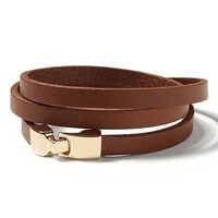 Banana Republic Leather Buckle Bracelet Size One Size - Camel