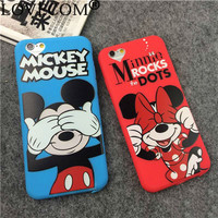 """Cute Cartoon Minnie Mickey Soft TPU Lovely Phone Cases For Iphone 6 6S 4.7"""" Back Cover For iphone 6 Case YC1307"""